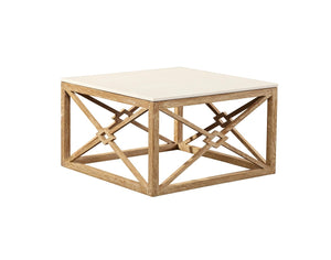 Furniture Classics White Marble Coffee Table 20-116