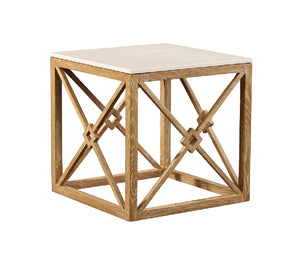 Furniture Classics White Marble Side Table 20-114