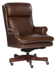 Hekman Coffee Leather Executive Office Chair 7-9252C - Curios And More