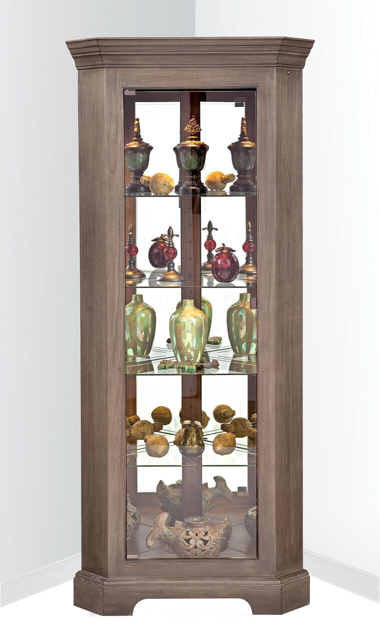 Philip Reinisch ColorTime Newport Corner Cabinet 70953 - Curios And More