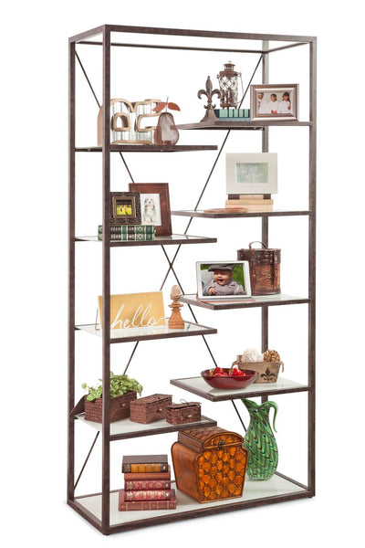 Philip Reinisch Folio Point Loma Industrial Bookcase 14001 - Curios And More