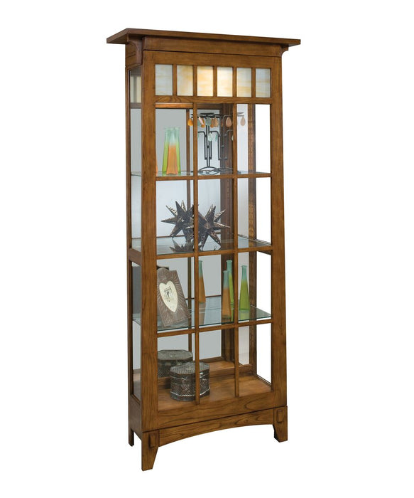 Philip Reinisch Lighthouse Roycroft Two-Way Sliding Door Curio Cabinet 11051 - Curios And More