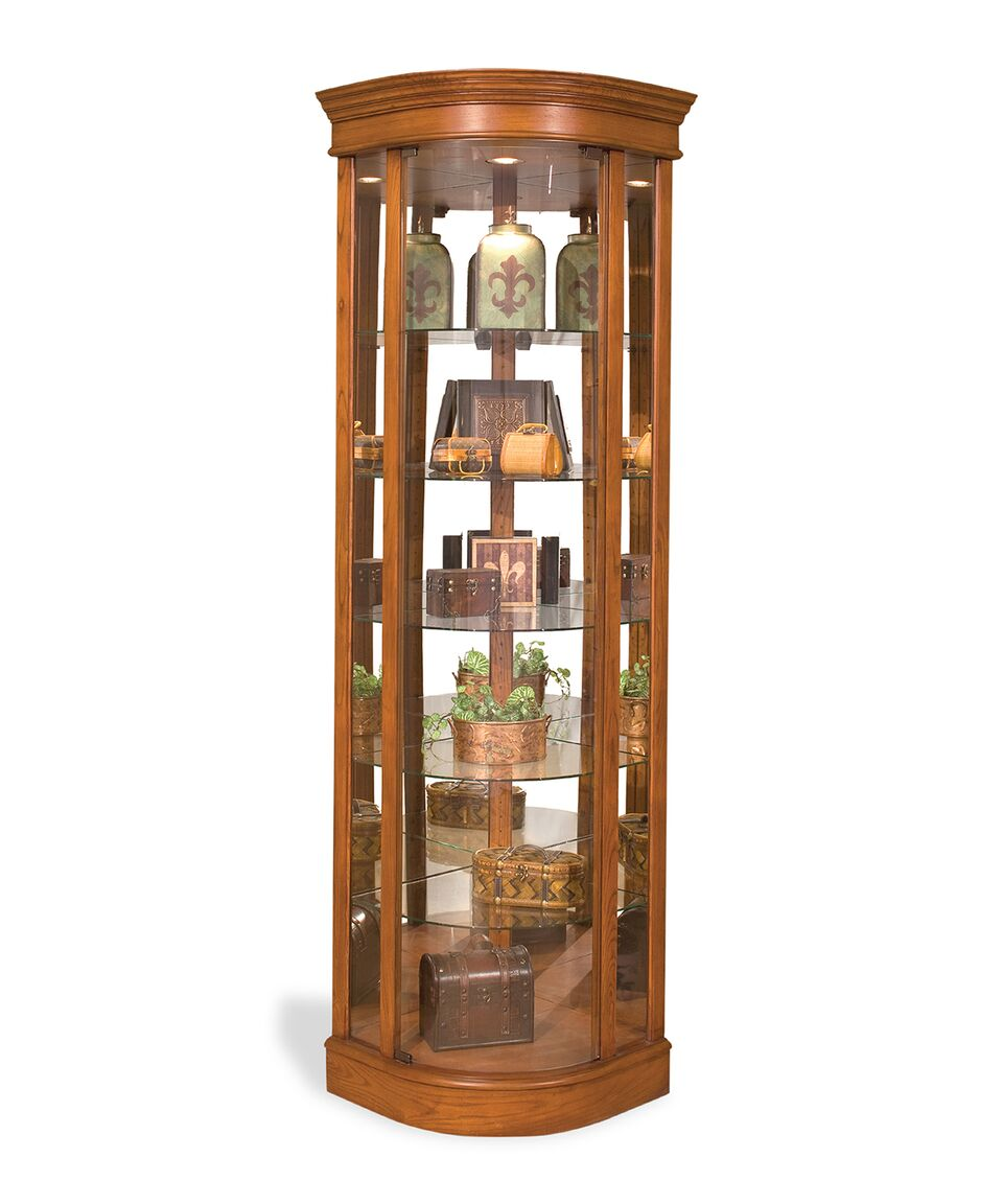 Philip Reinisch Lighthouse Auberage II Curved Corner Curio Cabinet 15951 - Curios And More