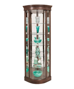 Philip Reinisch Lighthouse Auberage Curved Corner Curio Cabinet 15982 - Curios And More