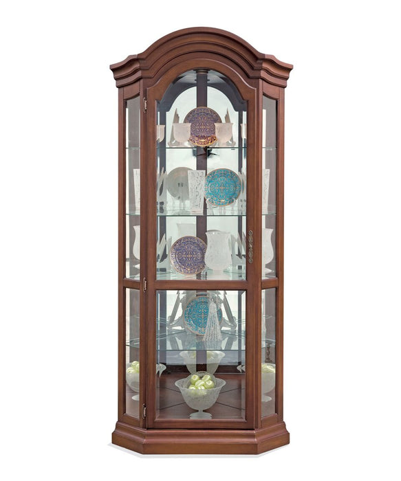 Philip Reinisch Lighthouse Serpentine Corner Curio Cabinet 489 - Curios And More
