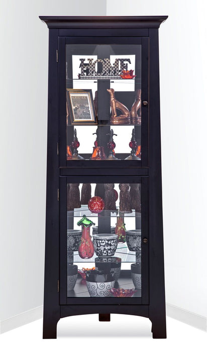 Philip Reinisch Power Lancaster I Corner Curio Cabinet 13357 - Curios And More