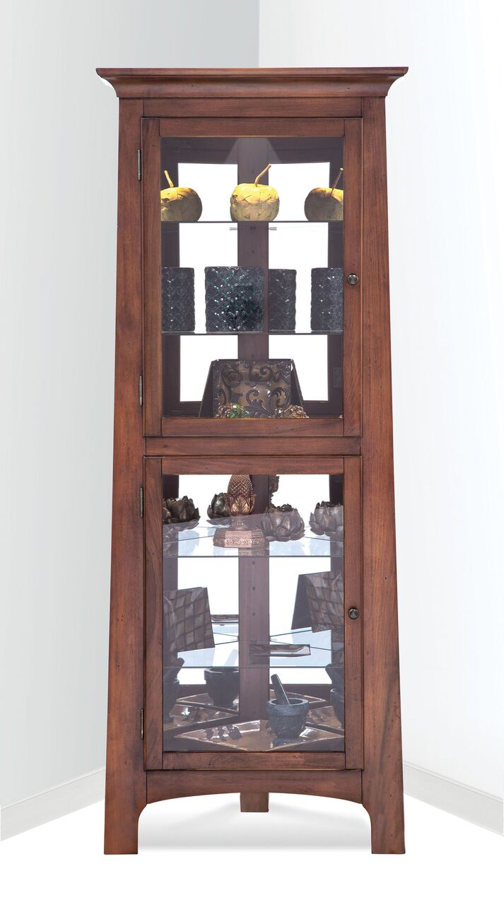 Philip Reinisch Power Lancaster III Corner Curio Cabinet 13362 - Curios And More
