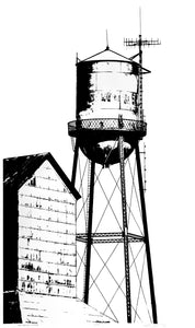 THE WATER TOWER (18x30IN)