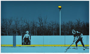 WAITING FOR THE DADZONI (30x18IN)