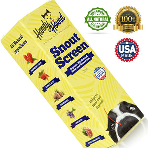 Handy Hound SnoutScreen | Nose Balm | Moisturizing All Natural Sunscreen For Dogs, 2 Oz