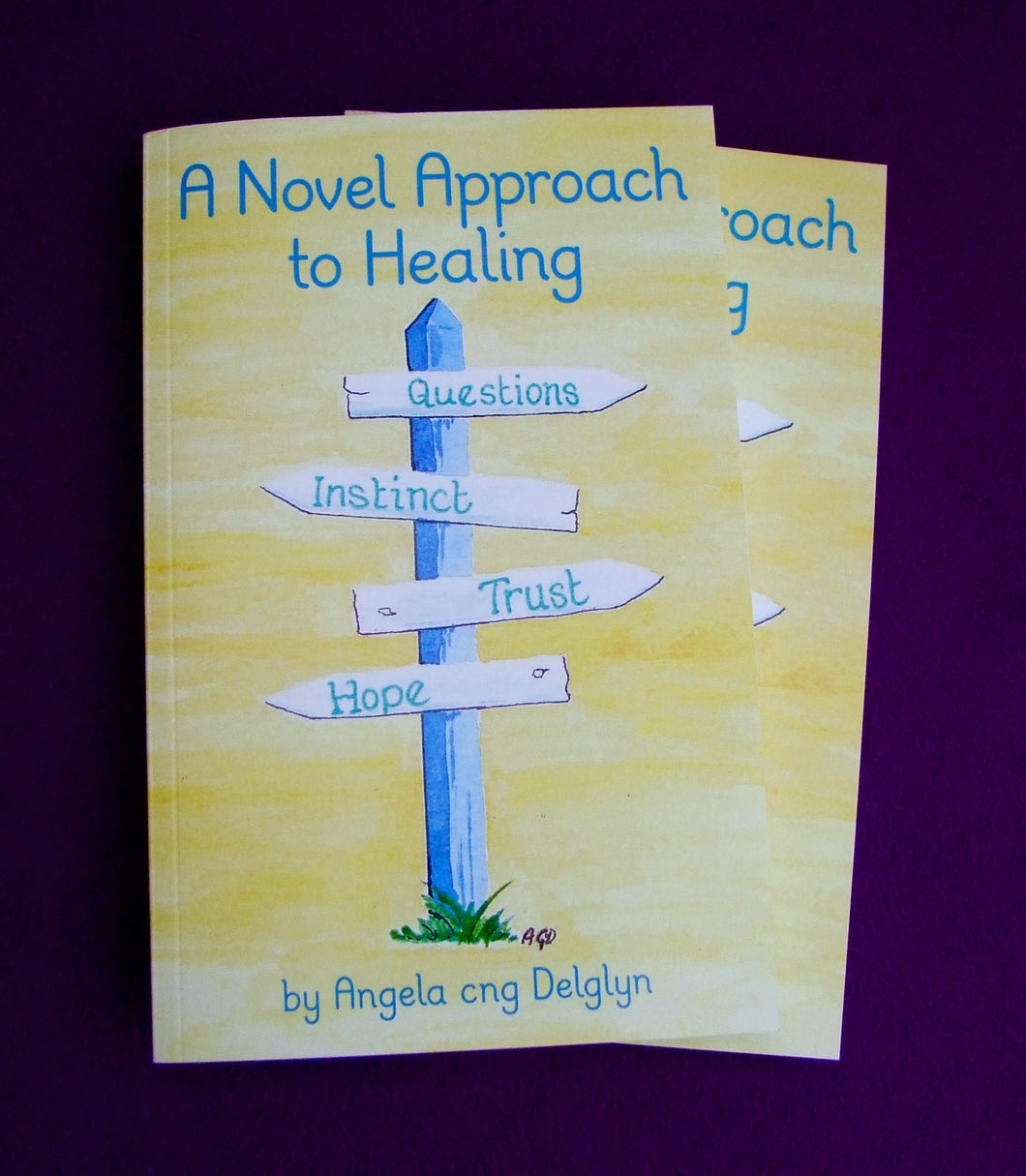 A novel approach to healing, Angela Delglyn, book