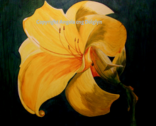 Luscious Lily, Angela cng Delglyn, original, acrylic painting