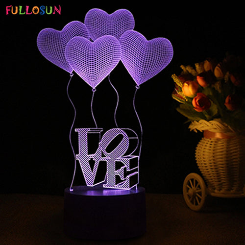 Say I Love You Every Night With This Romantic 3D Heart-Shaped LED Night Light