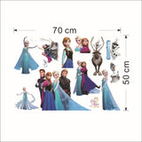 2018 Cartoon Elsa Anna wall stickers girl Children room background decor stickers removable kids bedroom movie poster decal