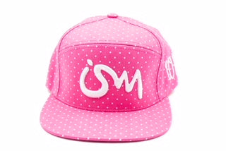 Ism 5 panel Polka Dot Snap Back Hat (pink)
