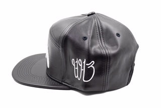 df557688fac80 Ism Leather 5 Panel Hat (Black white) – Ism Boutique SF