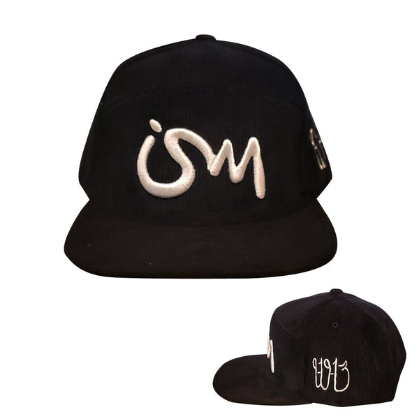 Ism 5 panel Corduroy Snap Back Hat (black)