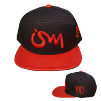 Ism 5 Panel Hat black (red brim)
