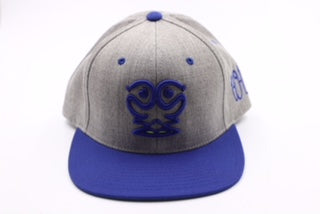 Ism Rorschach snapback hat (grey/royal blue)