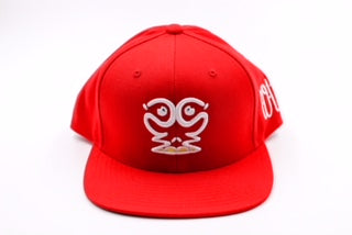 Ism Rorschach snapback hat (red/white)