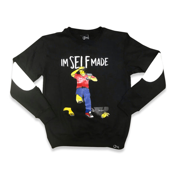 Im Self Made crewneck sweater (black)