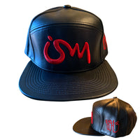 Ism Leather 5 Panel Hat (black brim)