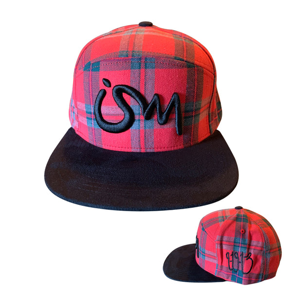 Ism 5 Panel Pendleton Hat (red)