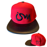 Ism 5 Panel Hat Red (black brim)