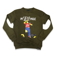 Im Self Made crewneck sweater (olive green)