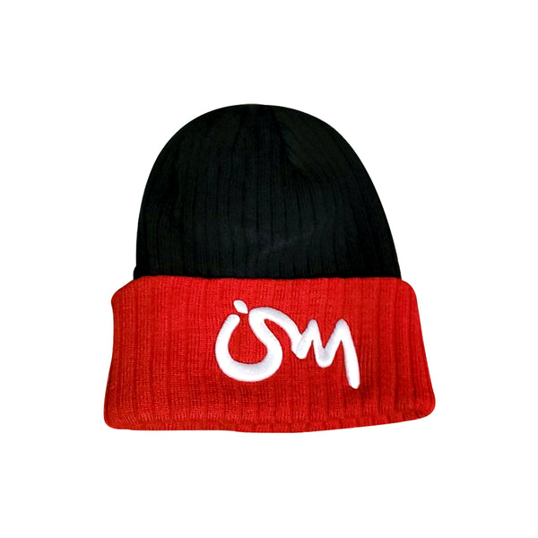 Ism Knitted Beanie (black/red)