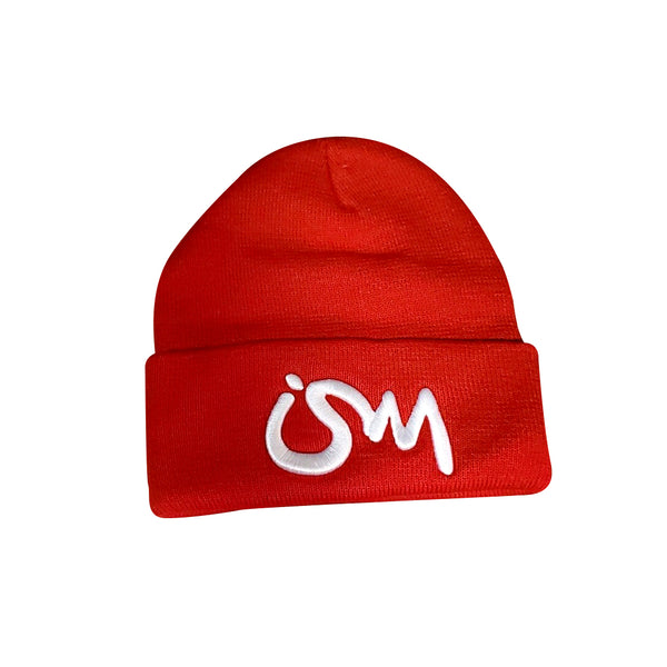 Ism Beanie (red/white)