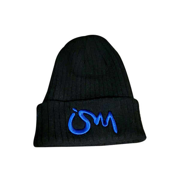 Ism Knitted Beanie (black/blue)