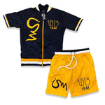 Ism Numerology Short Set (yellow/navyblue)