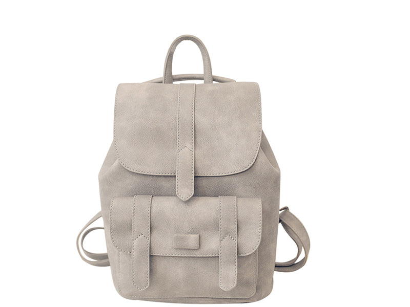 leather vintage women backpack grey soft onway store