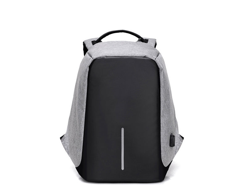 USB Charging Anti-Theft Backpack front black grey