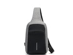 chest bag charging usb grey on way
