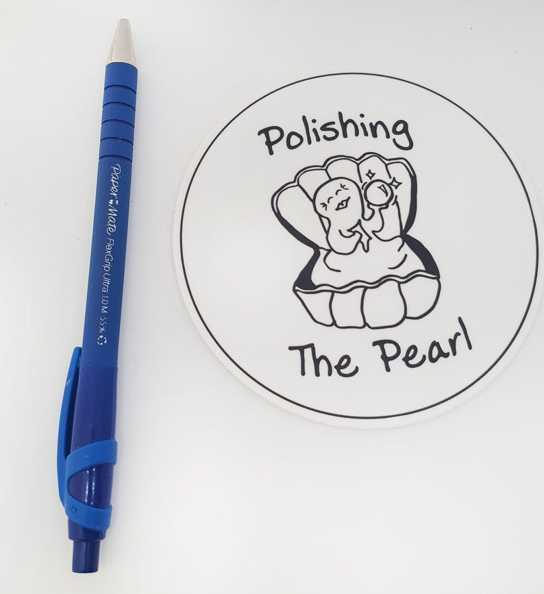 Polishing the Pearl Sex Positive Sticker
