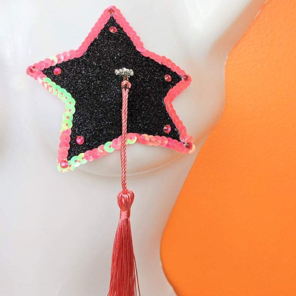 Black and Pink Star Pasties