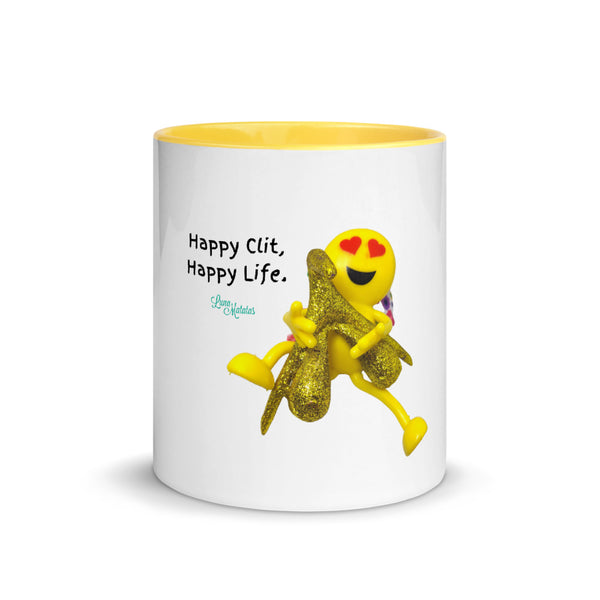 Happy Clit, Happy Life Pornmoji Mug