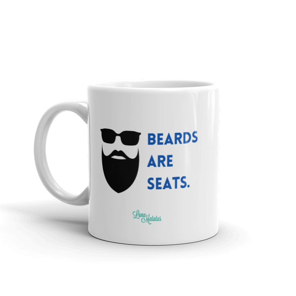 Beards Are Seats Mug - Blue
