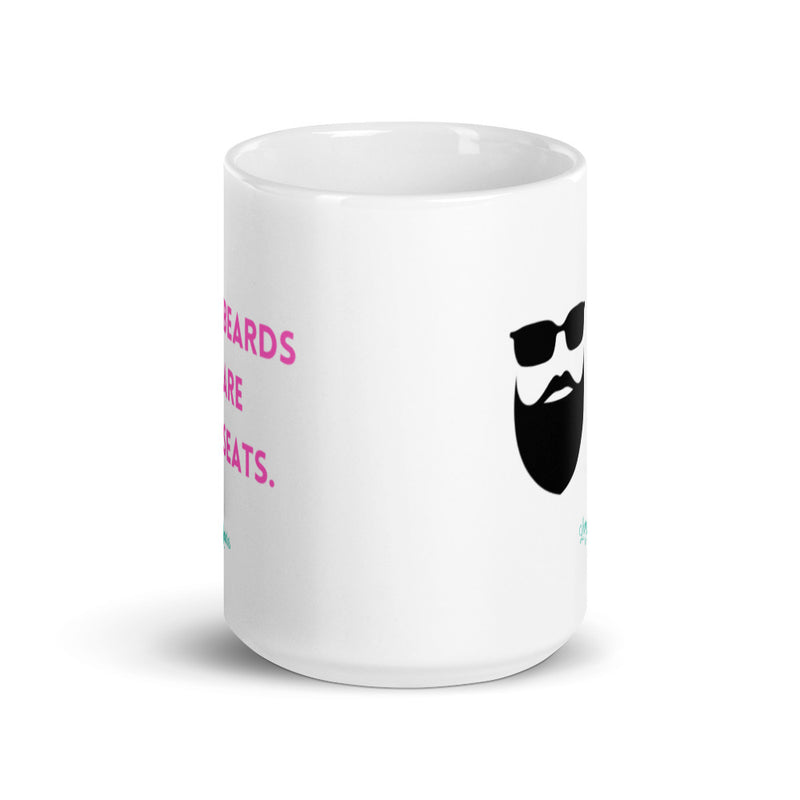 Beards Are Seats Mug - Pink