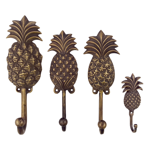Antique Brass Pineapple Wall Hook