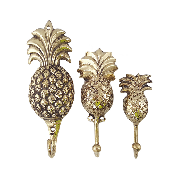 Gold Pineapple Wall Hook