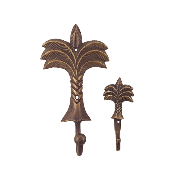 Antique Brass Palm Wall Hook