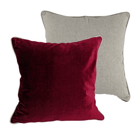 Velvet Cushion - Ruby