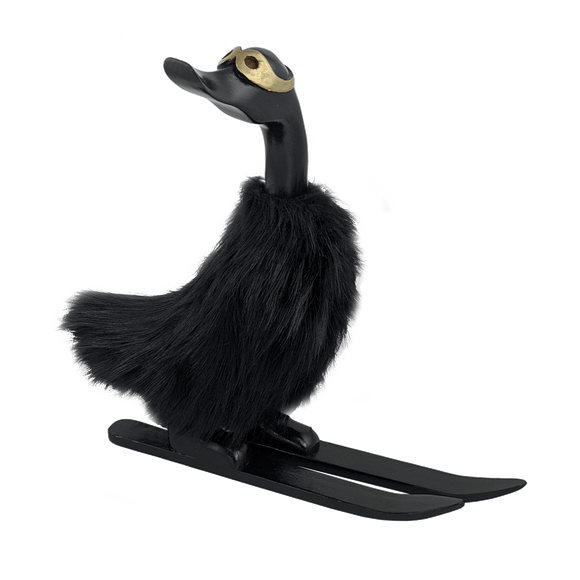 Wooden Duck - Aspen Ski Duck Black
