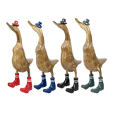 Wooden Duck - Top Hat & Gumboots