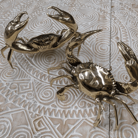Brass Crab - gold