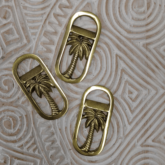 Gold Oval Palm Bottle Opener - Small