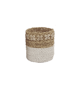 Anderson Shell Accent Pot - White Natural